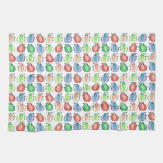 Pop Art Guinea Pig Pattern Tea Towel