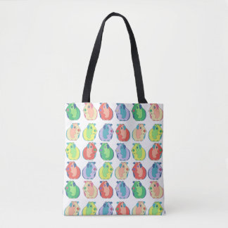 Pop Art Guinea Pig Pattern Tote Bag