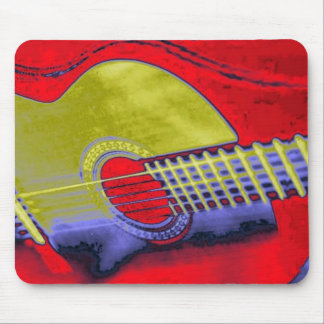 Pop Art Guitar Mouse Pad