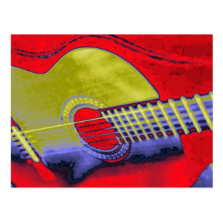 Pop Art Guitar Postcard