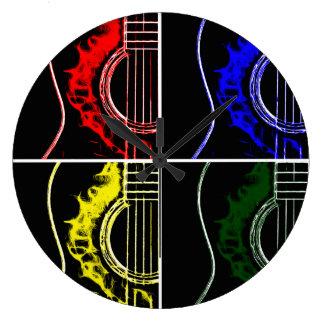Pop Art Guitars Large Clock