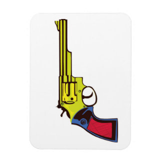 Pop Art Gun Rectangular Photo Magnet