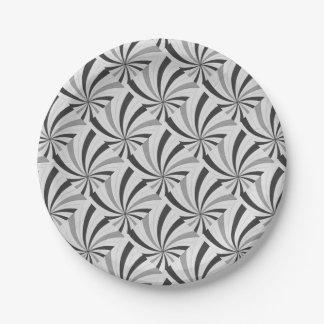 Pop Art Halftone Backdrop Paper Plate