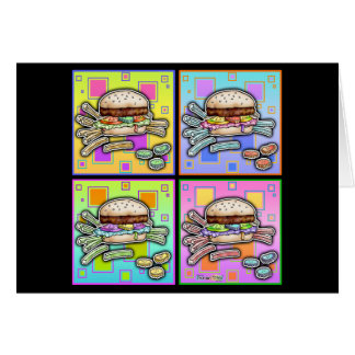 Pop Art HAMBURGER GREETING - NOTE CARD