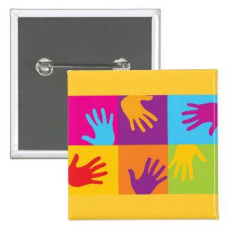 pop_art_hands 15 cm square badge
