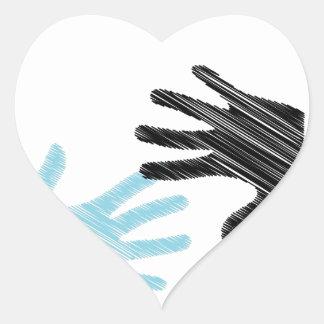 Pop Art Hands Heart Sticker