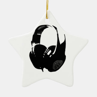 Pop Art Headphone Christmas Ornament