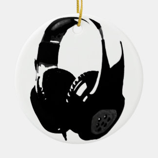 Pop Art Headphone Christmas Ornament