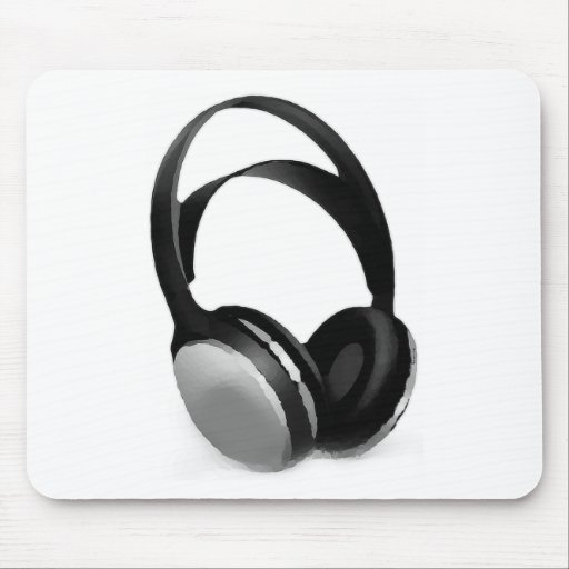 Pop Art Headphone Mouse Pads