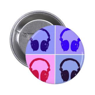 Pop Art Headphones 6 Cm Round Badge