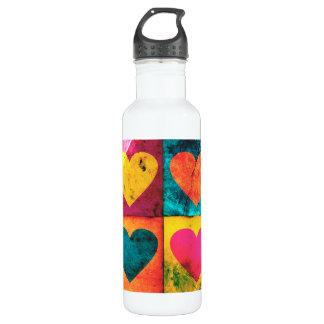 Pop Art Heart Water Bottle 710 Ml Water Bottle