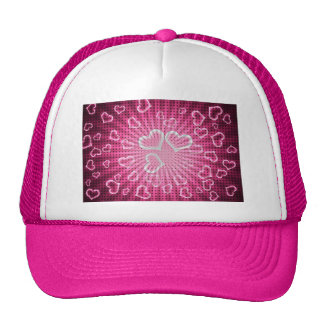 Pop Art Hearts Valentine Trucker Hat