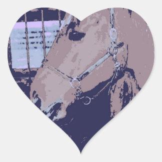 Pop Art Horse Heart Sticker