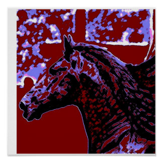 Pop Art Horse Poster Print