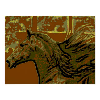 Pop Art Horse Print Poster