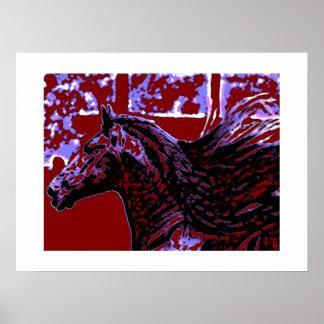 Pop Art Horse Print with White Borders