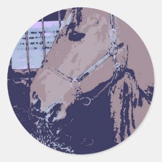 Pop Art Horse Round Sticker
