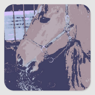 Pop Art Horse Square Sticker