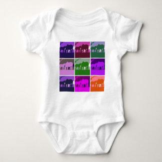 Pop Art Horses Baby Bodysuit