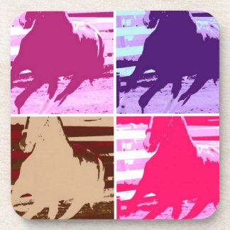 Pop Art Horses Drink Coaster