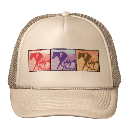 Pop Art Horses Trucker Hats