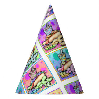 POP ART HOT DOGS PARTY HAT