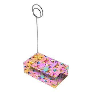 POP ART ICE CREAM CONES TABLE NUMBER HOLDER