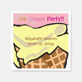 Pop Art Ice Cream Party Custom Paper Serviettes