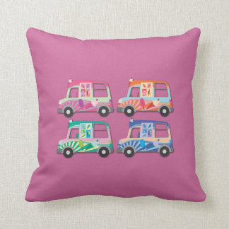 Pop Art Ice Cream Van Pink Cushion
