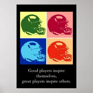 Pop Art Inspirational Football Quotes Poster