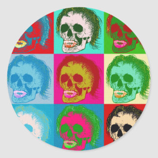 POP ART is dead! Classic Round Sticker