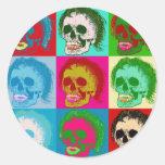 POP ART is dead! Round Sticker