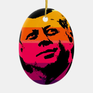 Pop Art Jack JFK John F. Kennedy Christmas Ornament