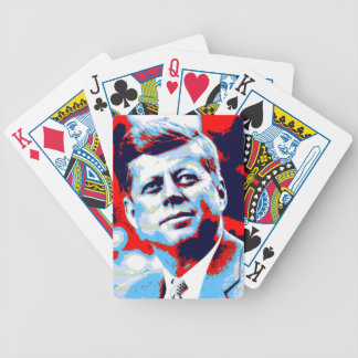 Pop Art JFK John F. Kennedy Red Blue Bicycle Playing Cards