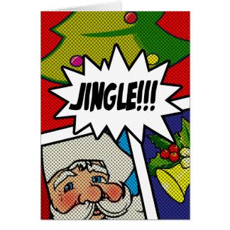 Pop Art Jingle Bells Card