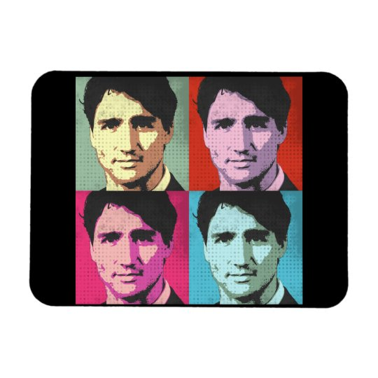 Pop Art Justin Trudeau - Full Size -.png Rectangular Photo Magnet