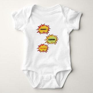 Pop art Kaboom typography explosion Baby Bodysuit