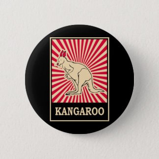 Pop Art Kangaroo 6 Cm Round Badge