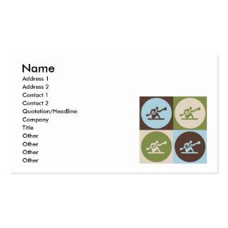 Pop Art Kayaking Pack Of Standard Business Cards