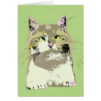 Pop Art Kitten Card
