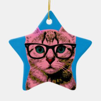 Pop Art Kitten Christmas Ornament