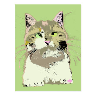 Pop Art Kitten Postcard