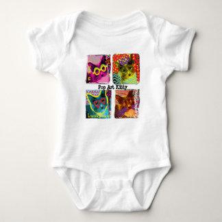 Pop Art Kitty baby romper Baby Bodysuit