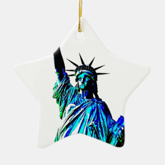 Pop Art Lady Liberty Christmas Tree Ornament