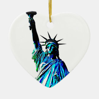 Pop Art Lady Liberty Christmas Ornament