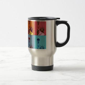 Pop Art Lady Liberty Coffee Mugs