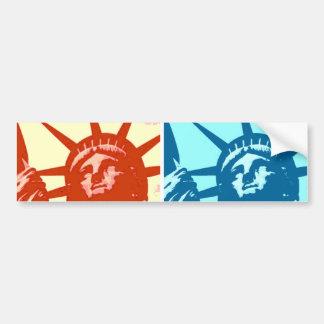Pop Art Lady Liberty New York City Bumper Sticker