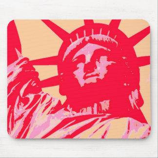 Pop Art Lady Liberty New York City Mouse Mat