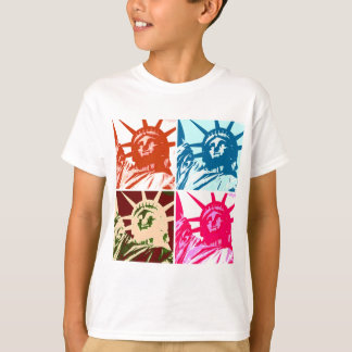 Pop Art Lady Liberty New York City Tee Shirts