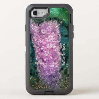 Pop Art Lavender Butterfly Bush Green Otterbox OtterBox Defender iPhone 8/7 Case